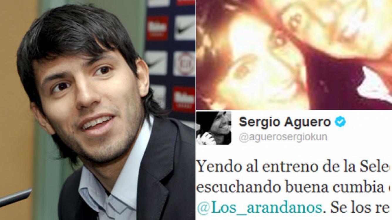 La súper perlita tuitera del Kun Agüero y el grupo del nuevo novio de Gianinna. (Fotos: Web y Twitter)
