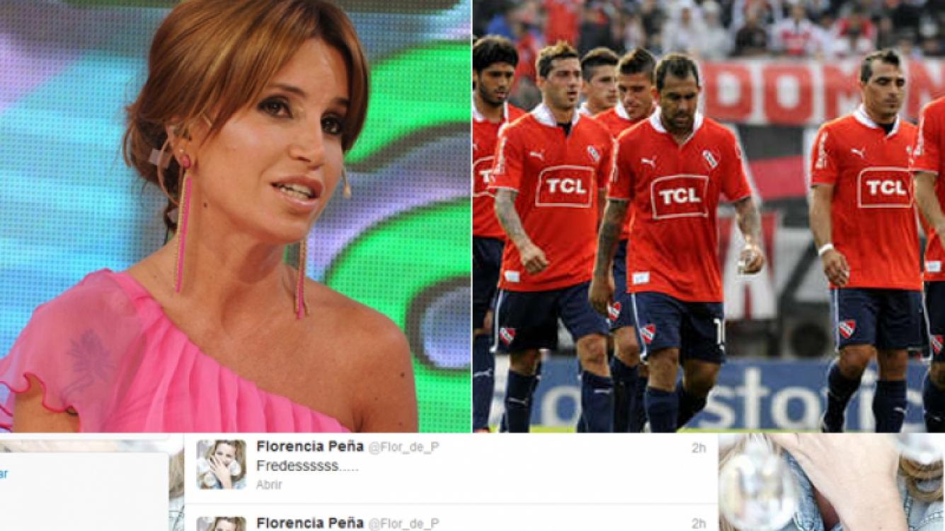 Florencia Peña, abatida (pero con humor) por el resultado de Independiente. (Foto: Web)