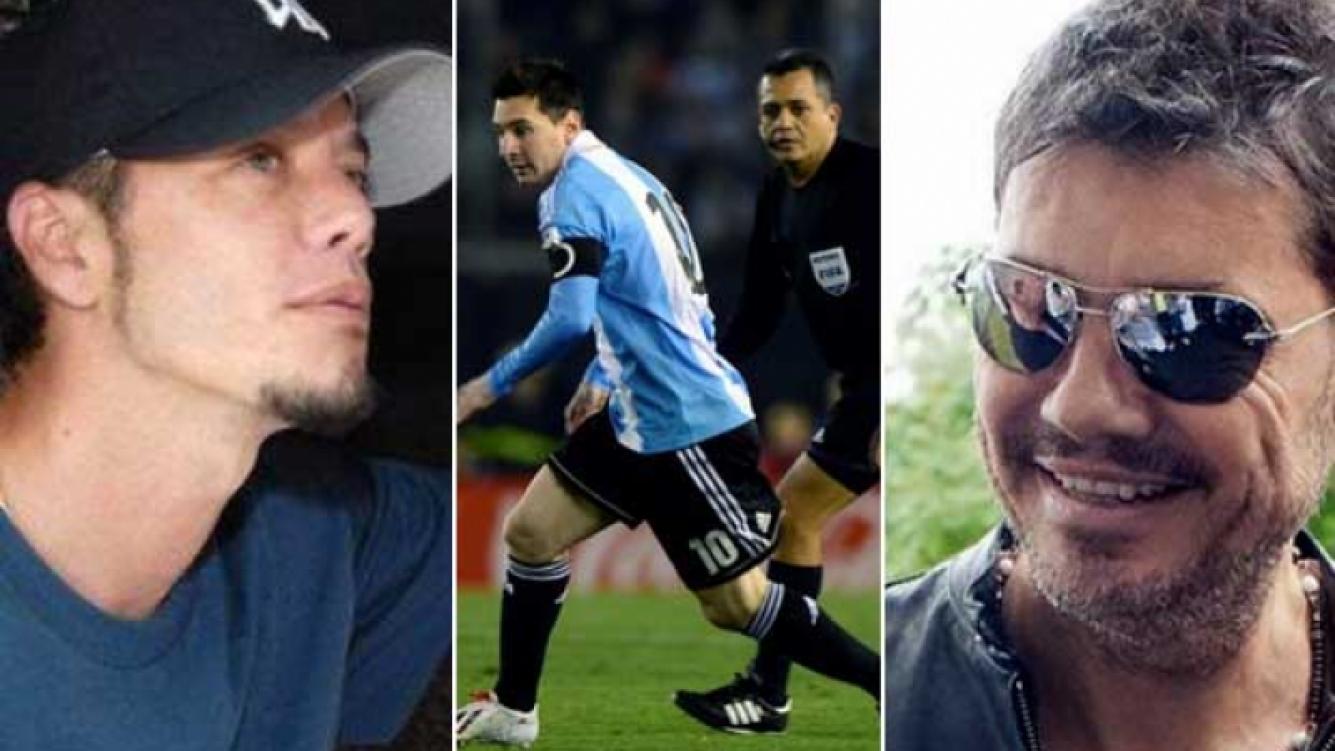 Sebastián y Marcelo coincidieron en una sola cosa: alentar a Argentina (Fotos: Web).