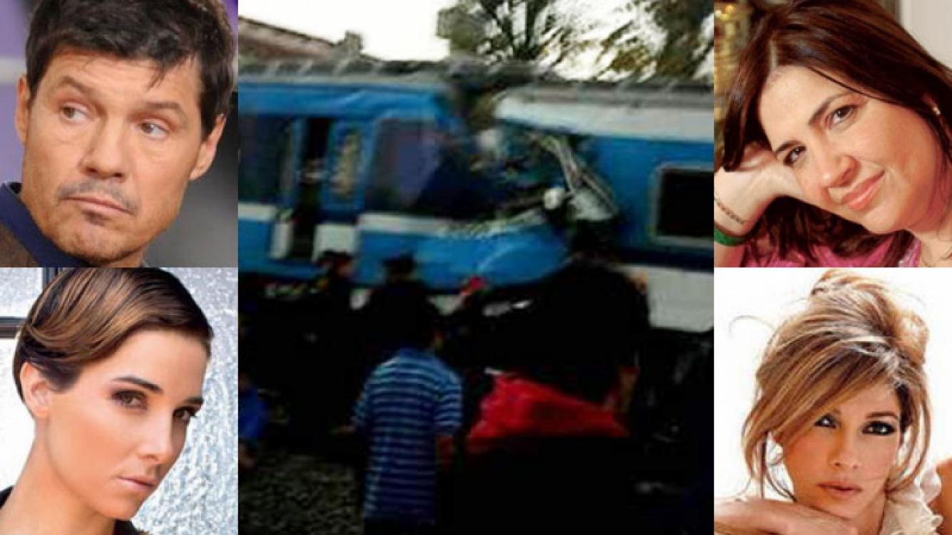 Los famosos reaccionaron ante el accidente de trenes (Fotos: Twitter y Web).