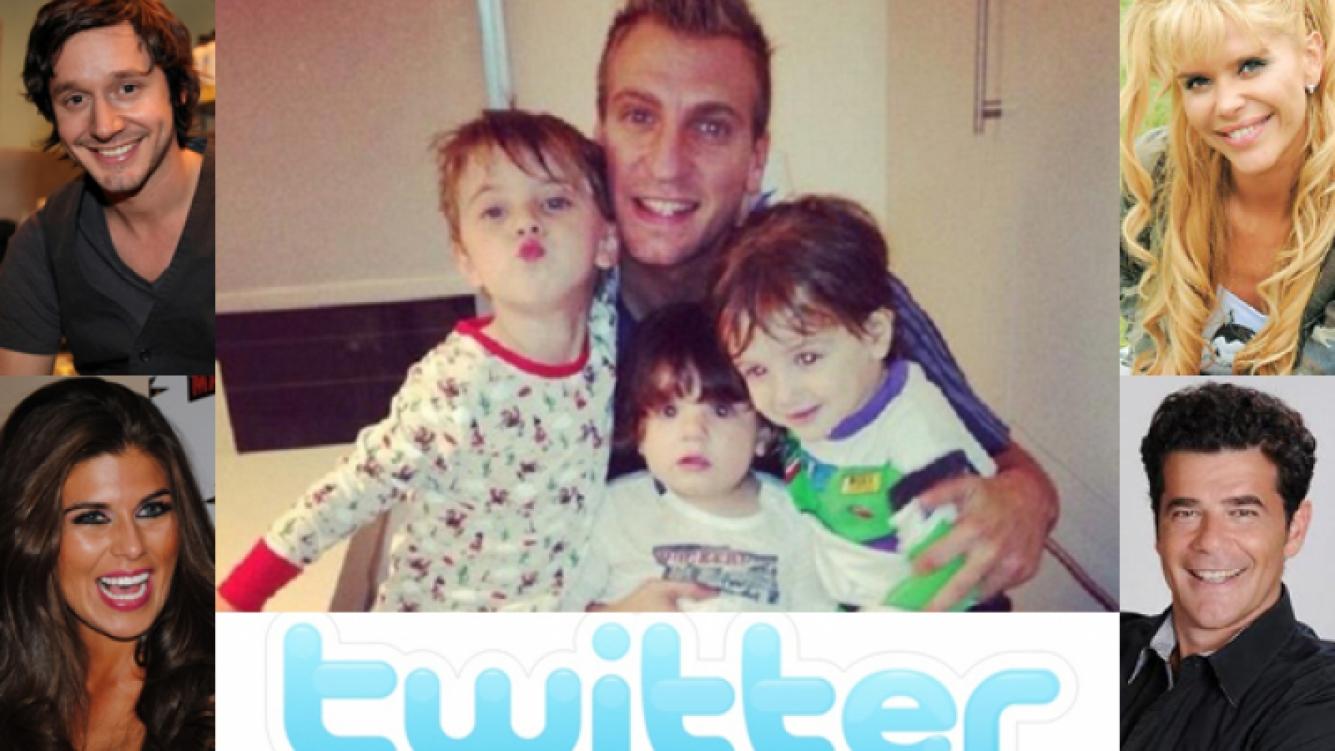 Los famosos festejaron el Día del Padre en Twitter (Foto: Web).