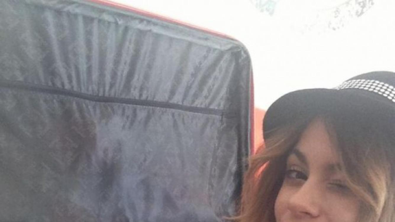 Martina Stoessel armando las valijas para su travesía (Foto: Twitter).