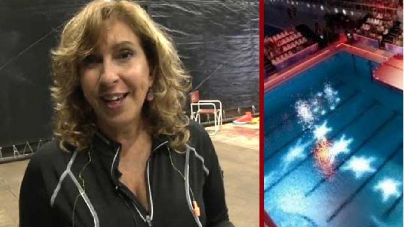 Georgina Barbarossa palpitó su debut en Celebrity Splash (Foto: Web).
