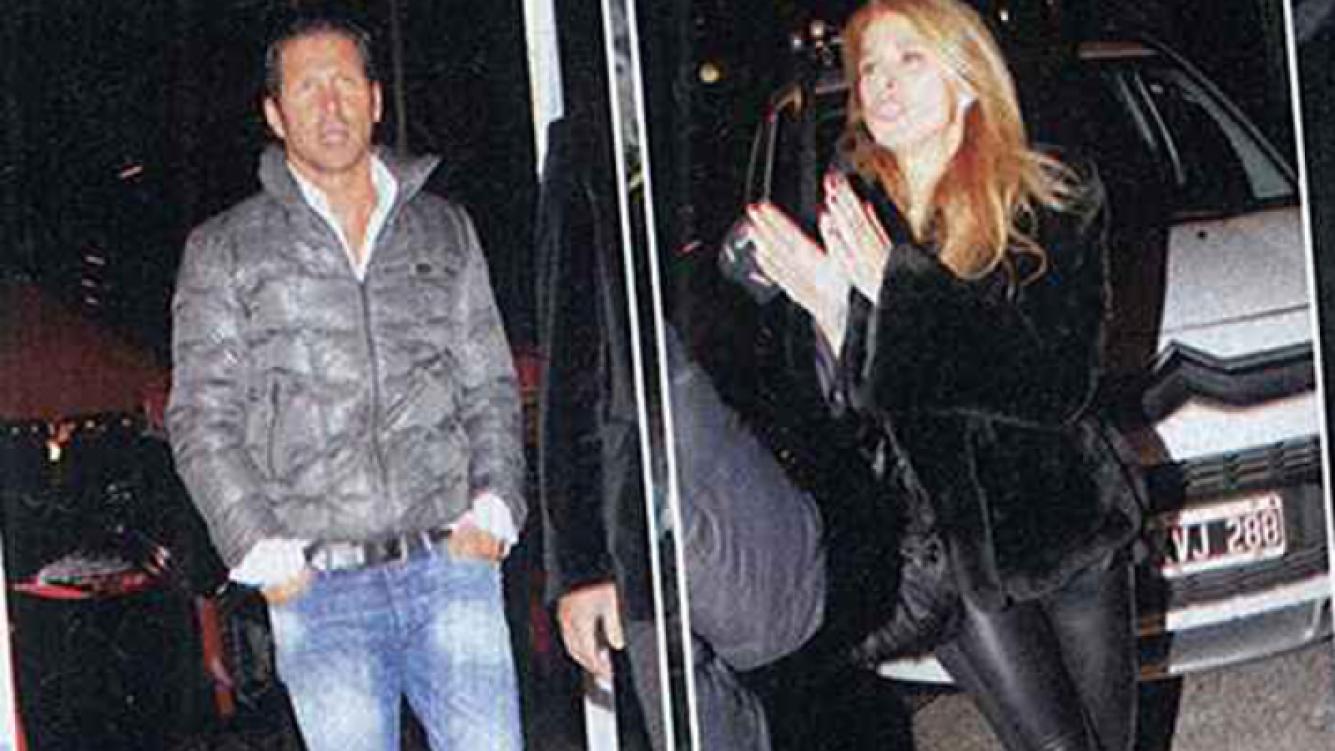 Las fotos de Flavia Palmiero y Diego Simeone juntos en la noche porteña. (Foto: revista Paparzzi)