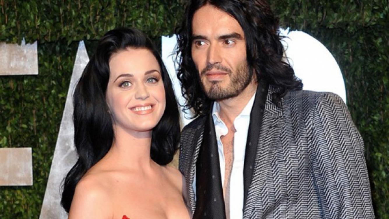 Katy Perry y Russel Brand, en tiempos mejores (Foto: Web).