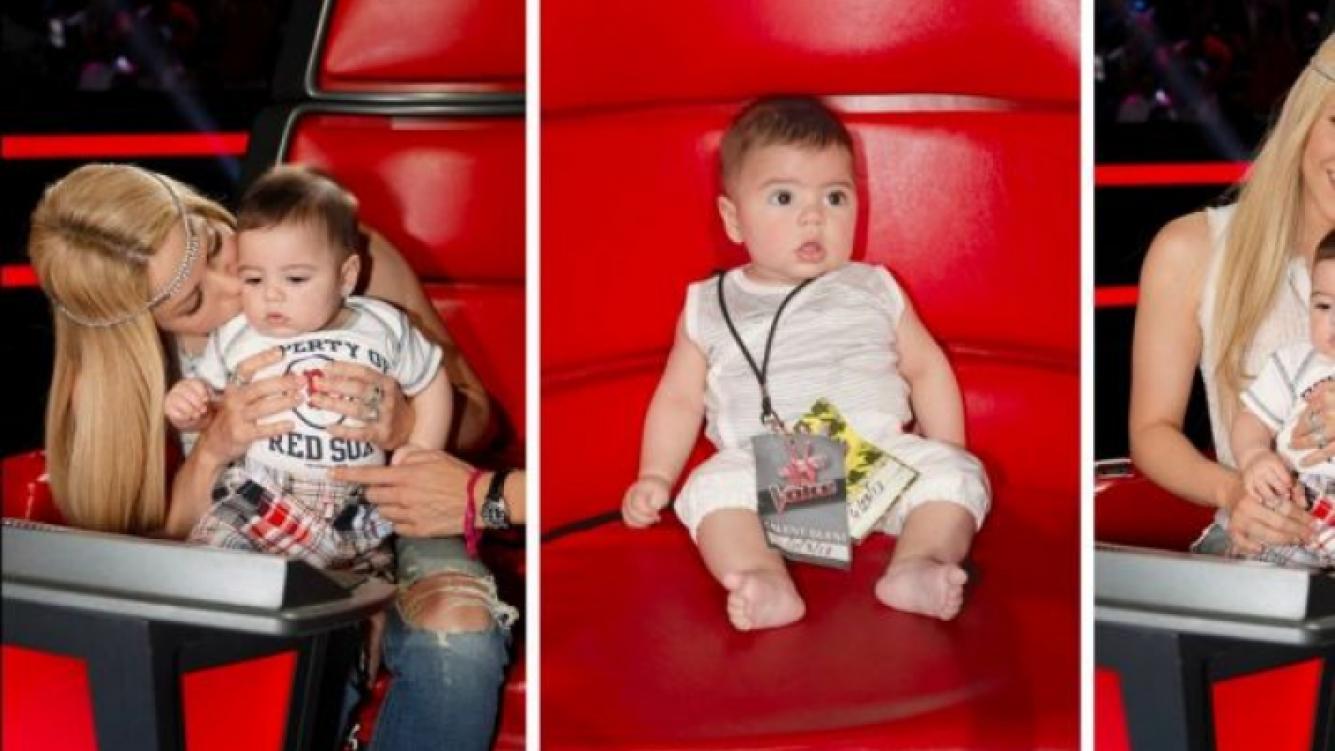 Milan Piqué se divirtió con su mamá en el estudio de The Voice. (Foto: Facebook.com/shakira)