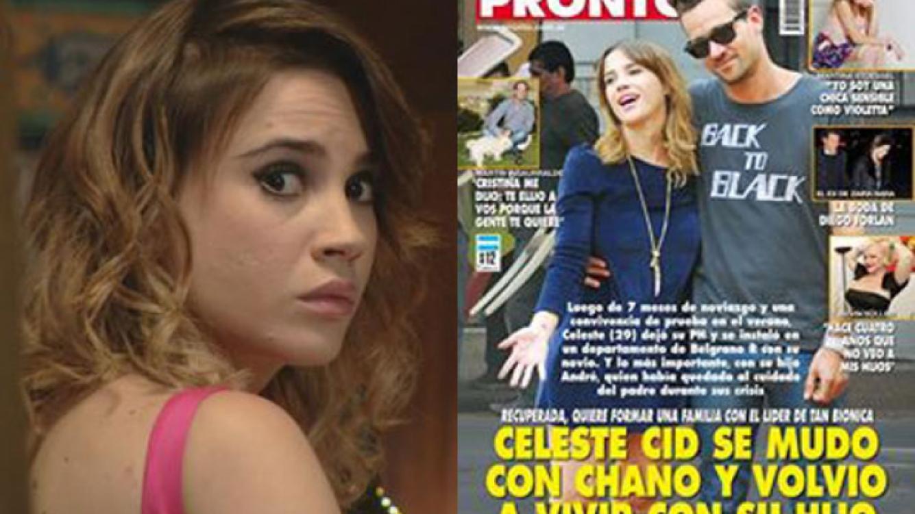 Celeste, muy molesta por la tapa de Pronto (Foto: Web y Pronto).