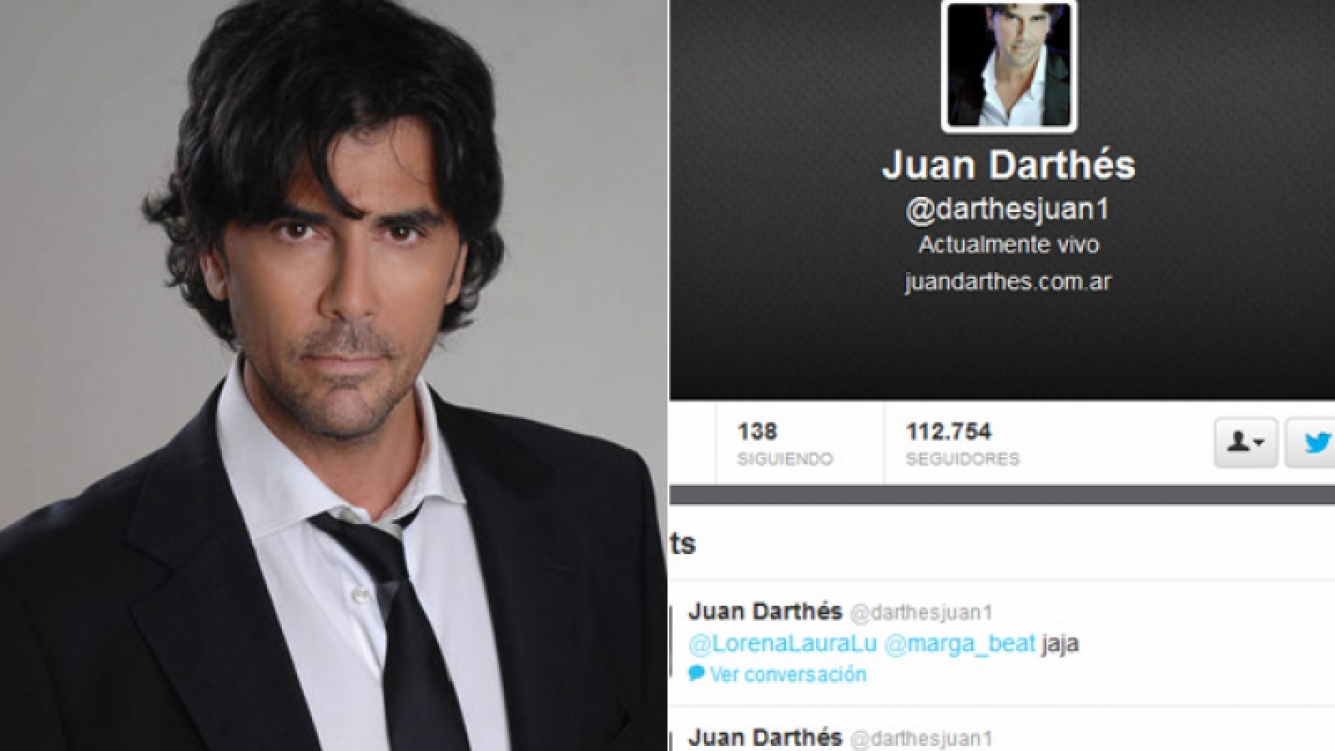 Los tweets de Juan Darthés mientras lo mencionaban en Intrusos. (Foto: Web)