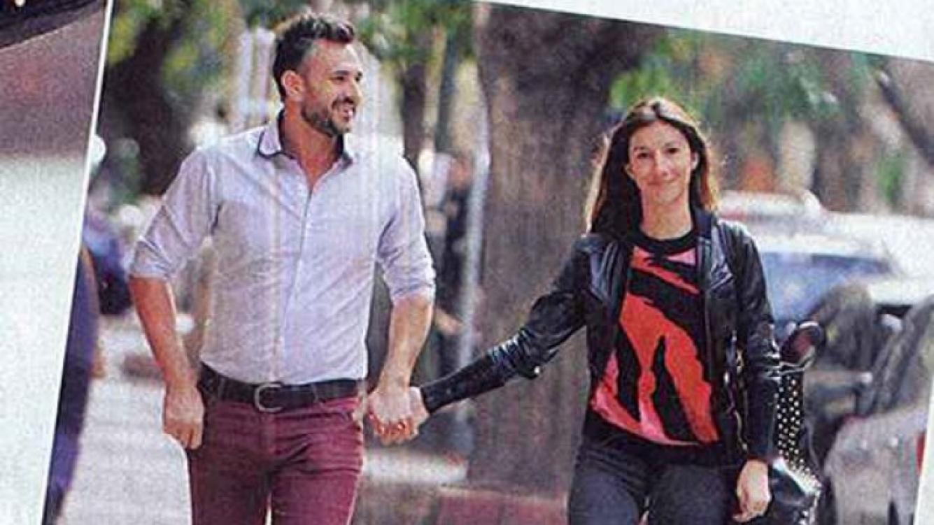 Leo Montero junto a su mujer en Cañitas (Foto: Paparazzi)