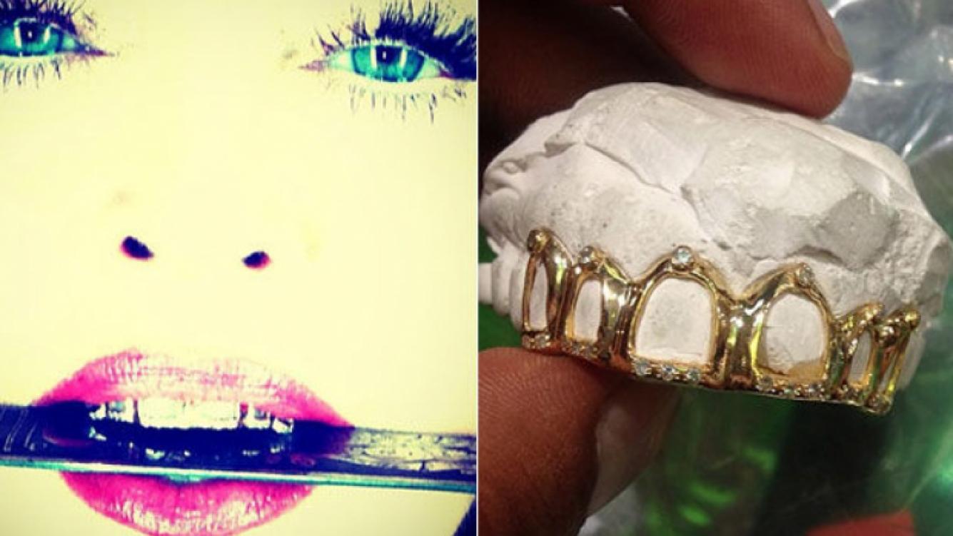 La última excentricidad de Madonna: se puso oro y diamantes en los dientes. (Foto: http://web.stagram.com/n/madonna)