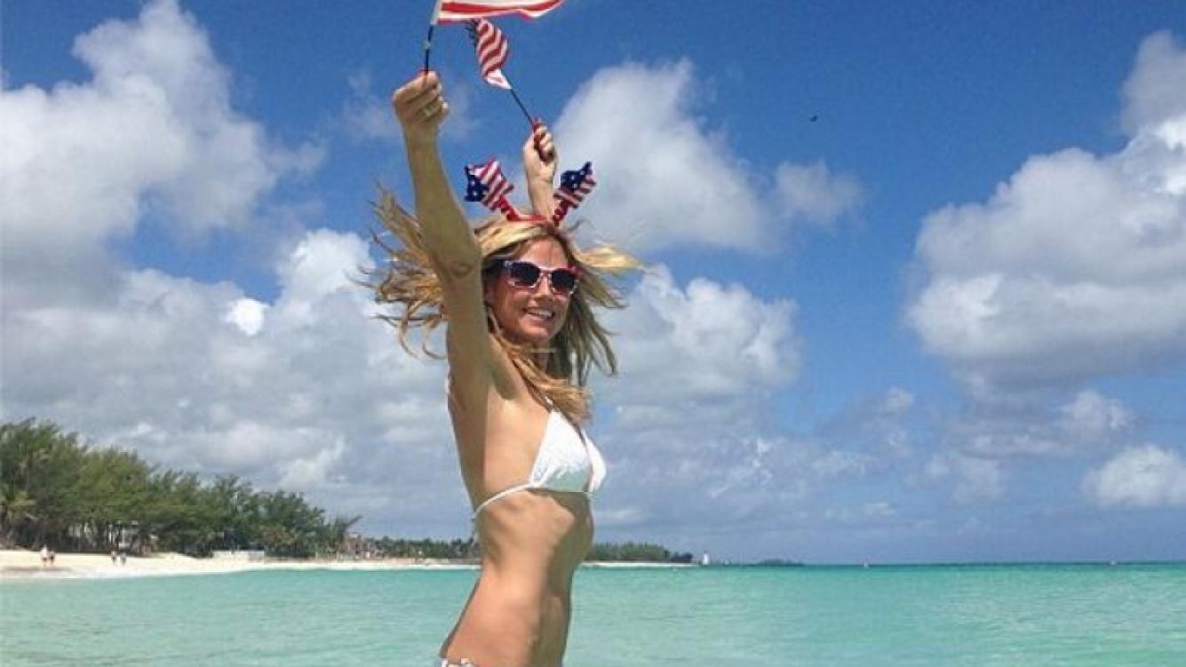 Las fotos hot de la supermodelo Heidi Klum en las Bahamas (Foto: Twitter).
