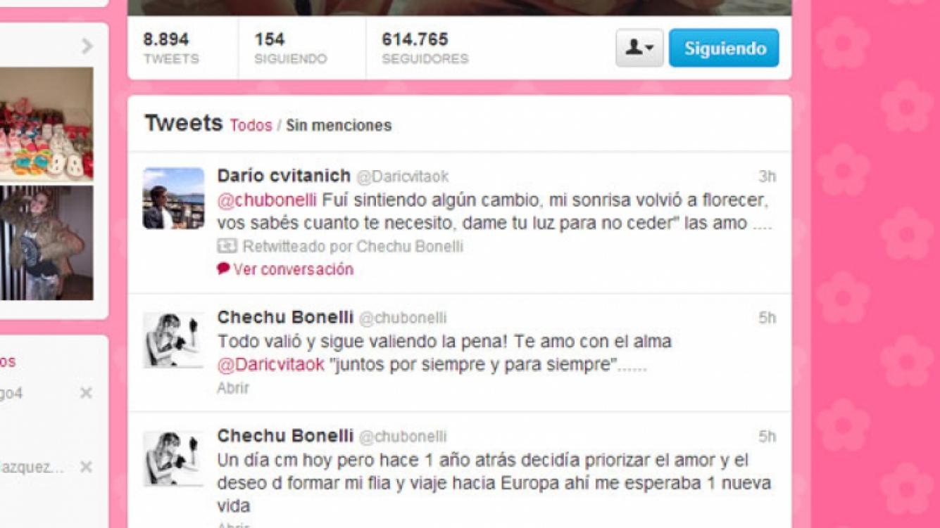 El romántico ida y vuelta de Chechu y Cvitanich (Foto: Captura).