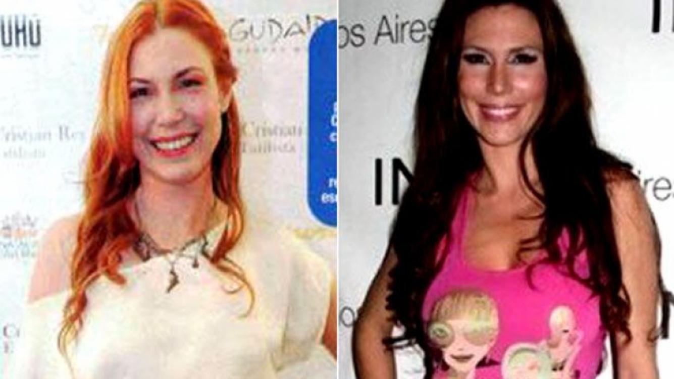 Celina Rucci, ahora y antes. (Fotos: revista Paparazzi y Web)