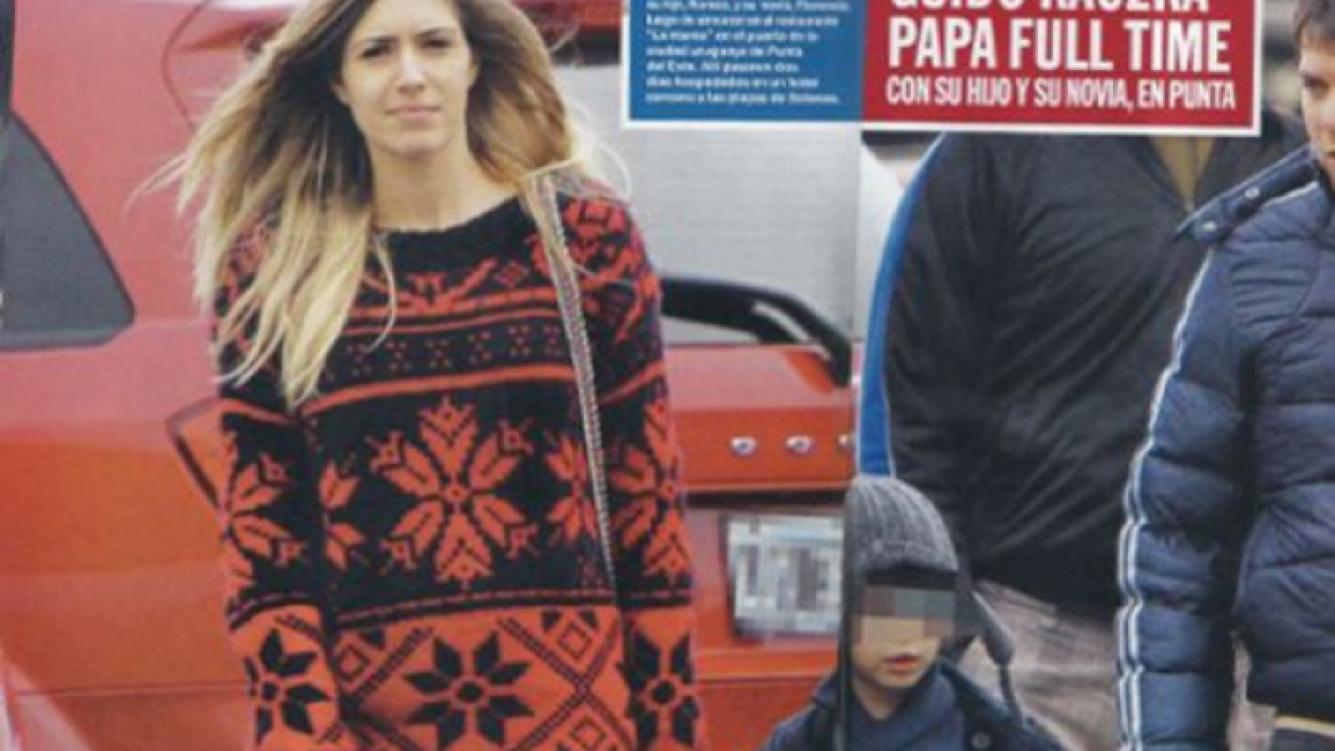 Guido Kaczka, su hijo y su pareja, Sole. (Foto: Revista Caras)