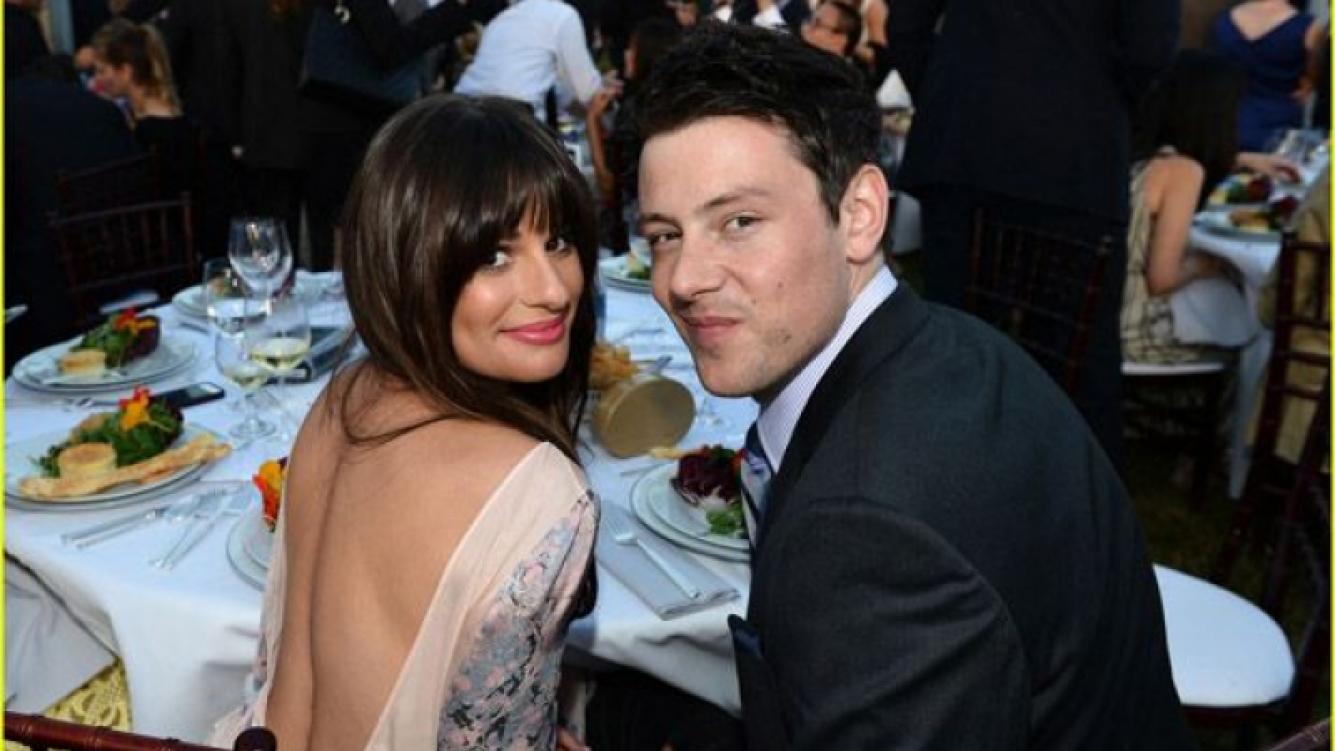 El actor junto a su novia Lea Michele. (Foto: Just Jared)