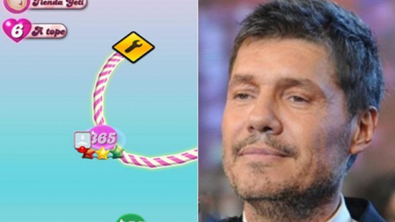 Marcelo Tinelli llegó al último nivel del Candy Crush. (