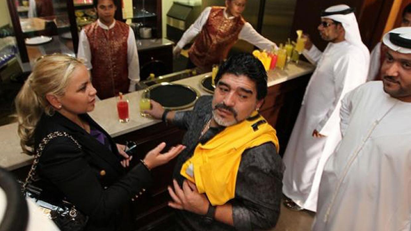 Diego Maradona y Verónica Ojeda acordaron en Dubai por Diego Fernando. (Foto: Web)