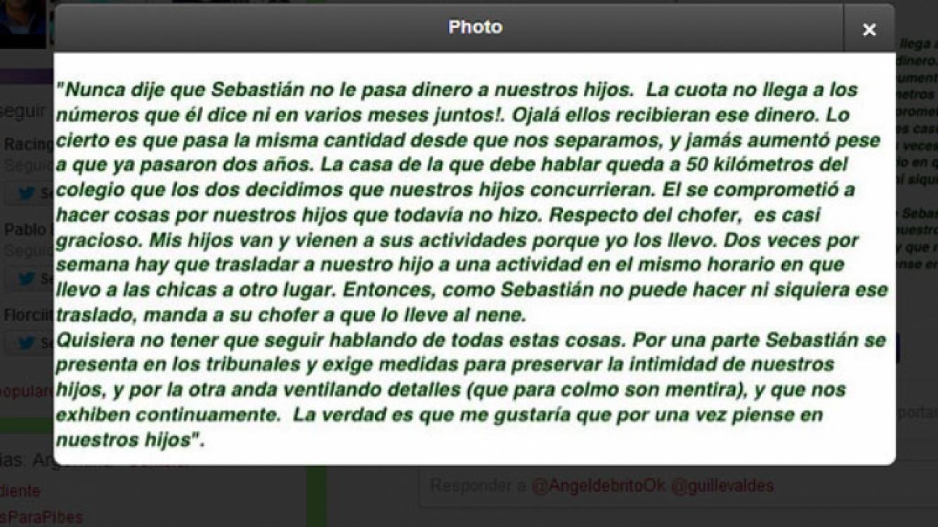 El comunicado de Guillermina Valdés (Foto: Captura).