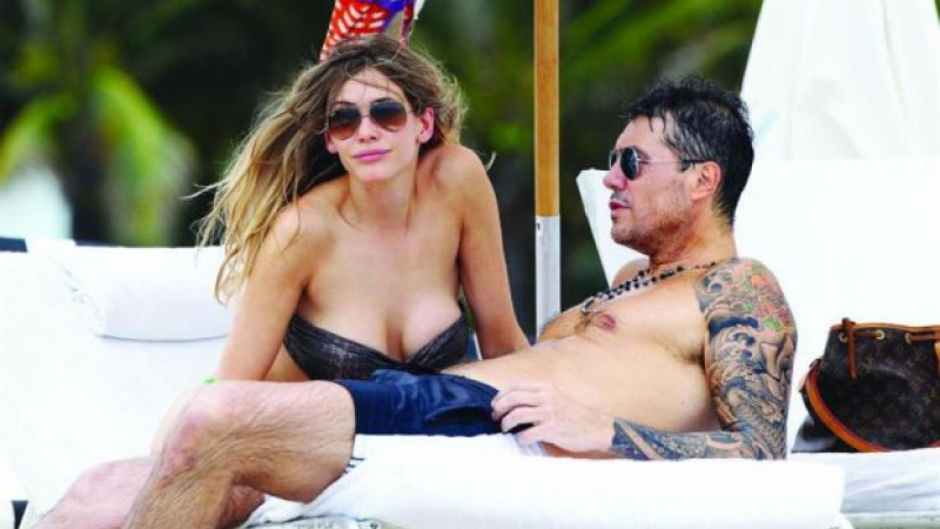 Marcelo Tinelli y Guillermina Valdés. (Foto: revista Gente)