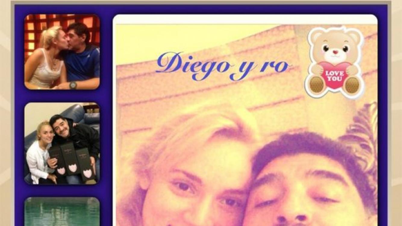 Diego Armando Maradona y Rocío Oliva, enamoradísimos. (Foto: @rociooliva4)