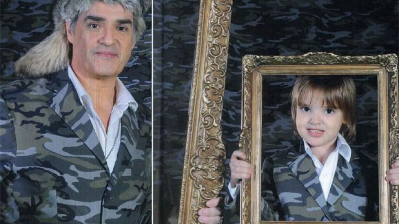 La tierna producción de fotos de Roberto Pettinato con su hijo Lorenzo. (Foto: revista Caras)