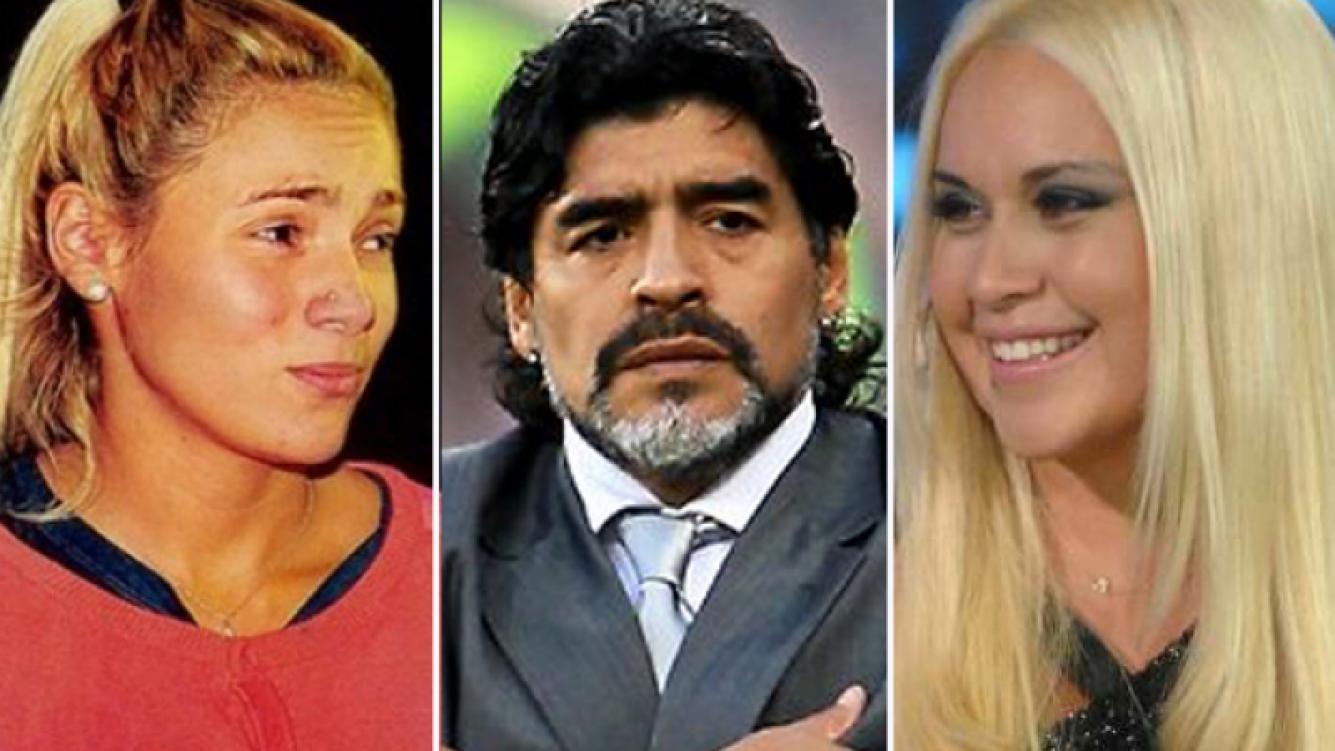Diego Maradona y Rocío Oliva, ¿en crisis por Verónica Ojeda? (Fotos: Web).
