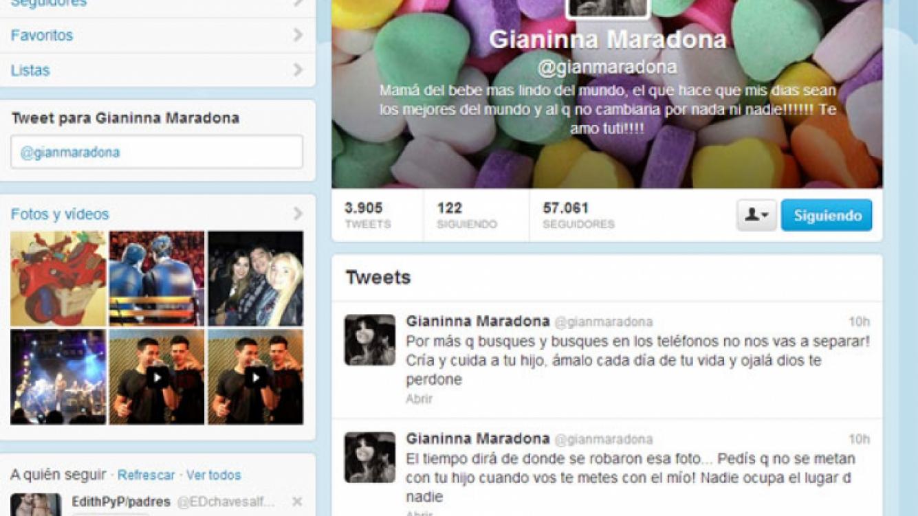 Gianinna Maradona, molesta por la tapa de Paparazzi (Fotos: Web y Paparazzi).