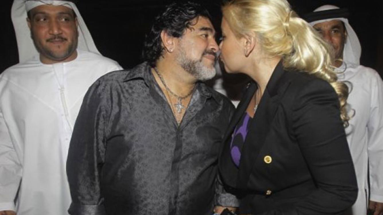 Diego Maradona y Verónica Ojeda, ¿viajan juntos a Dubai? (Foto: Web).