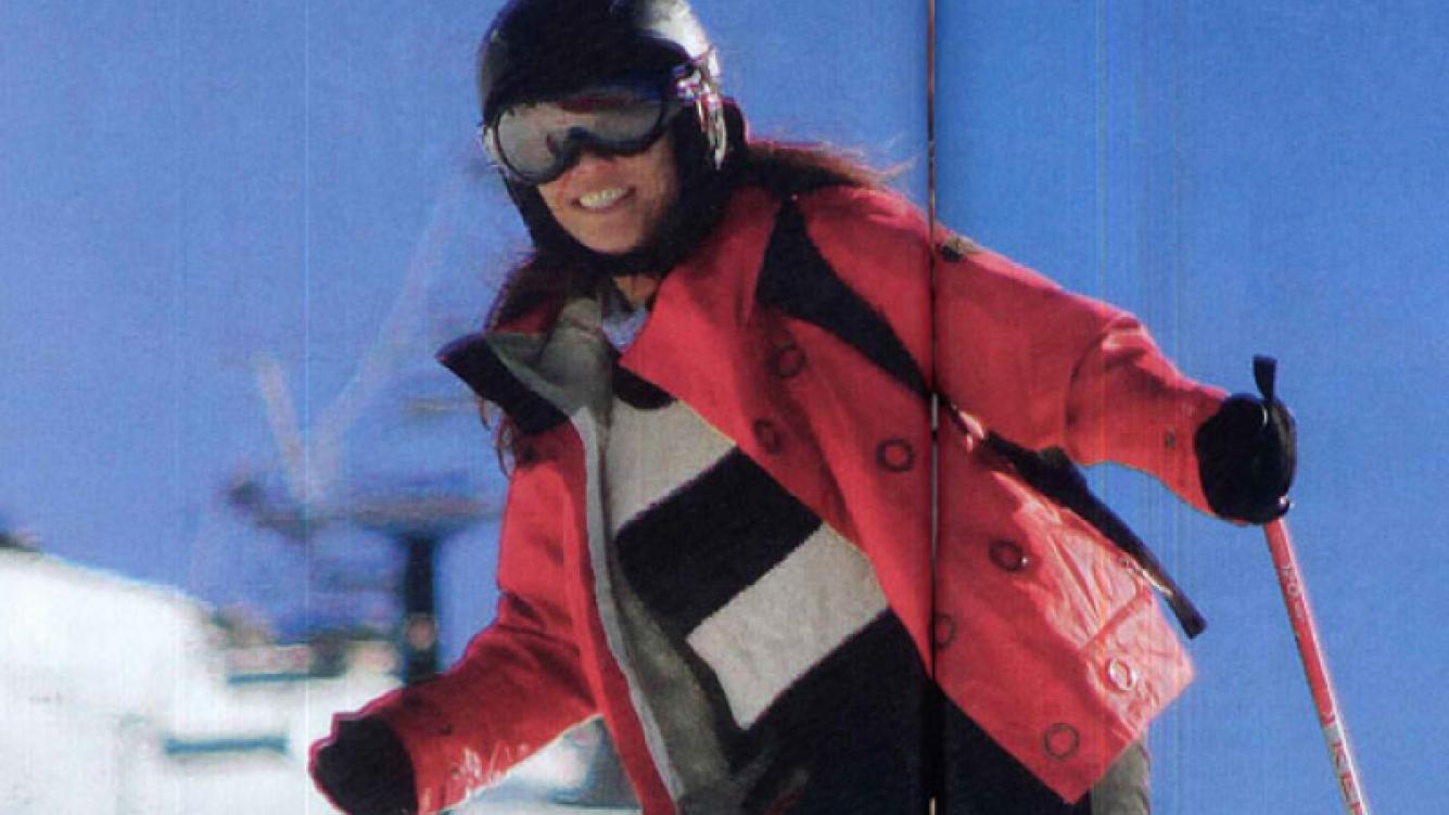 Ernestina Pais disfrutó de la nieve y el esquí (Fotos: Revista Caras).