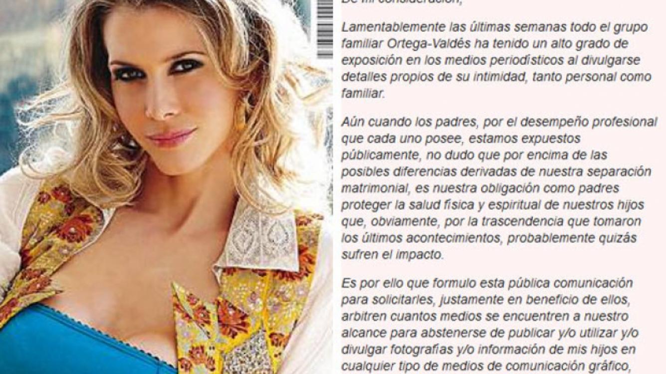 El comunicado de Guillermina Valdés. (Fotos: revista Caras y Web)