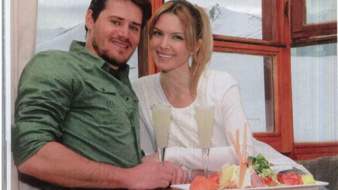 Gastón Rossetto y Sofía Zámolo, enamorados en la nieve de Chile. (Fotos: Revista Caras)