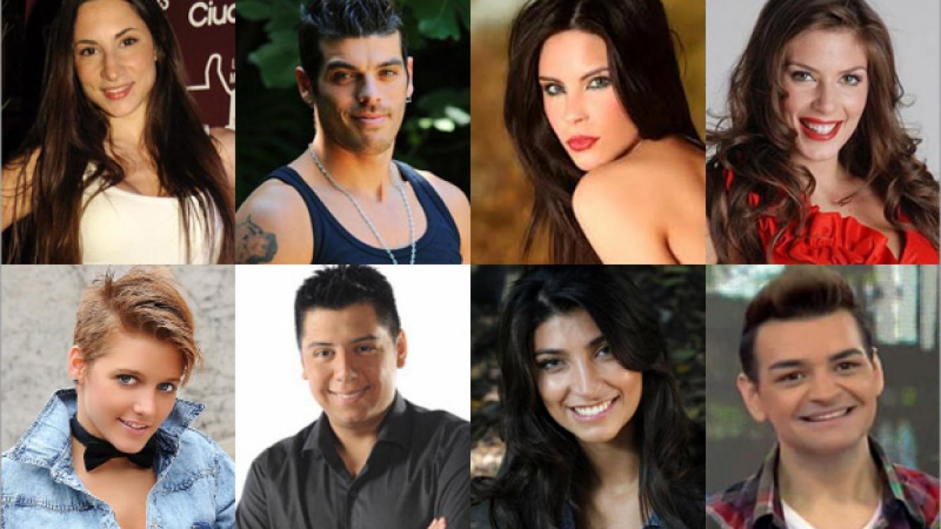 ARRIBA: Magui Bravi, Cristian U., Barby Franco y Eugenia Lemos. ABAJO: Luz Ríos, Mariano De La Canal,  Solange Gómez y Fran.