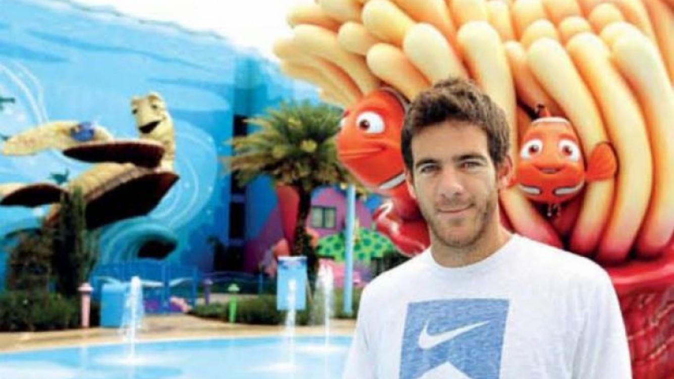 Juan Martín del Potro en Disney, buscando a Nemo... (Foto: revista Gente)
