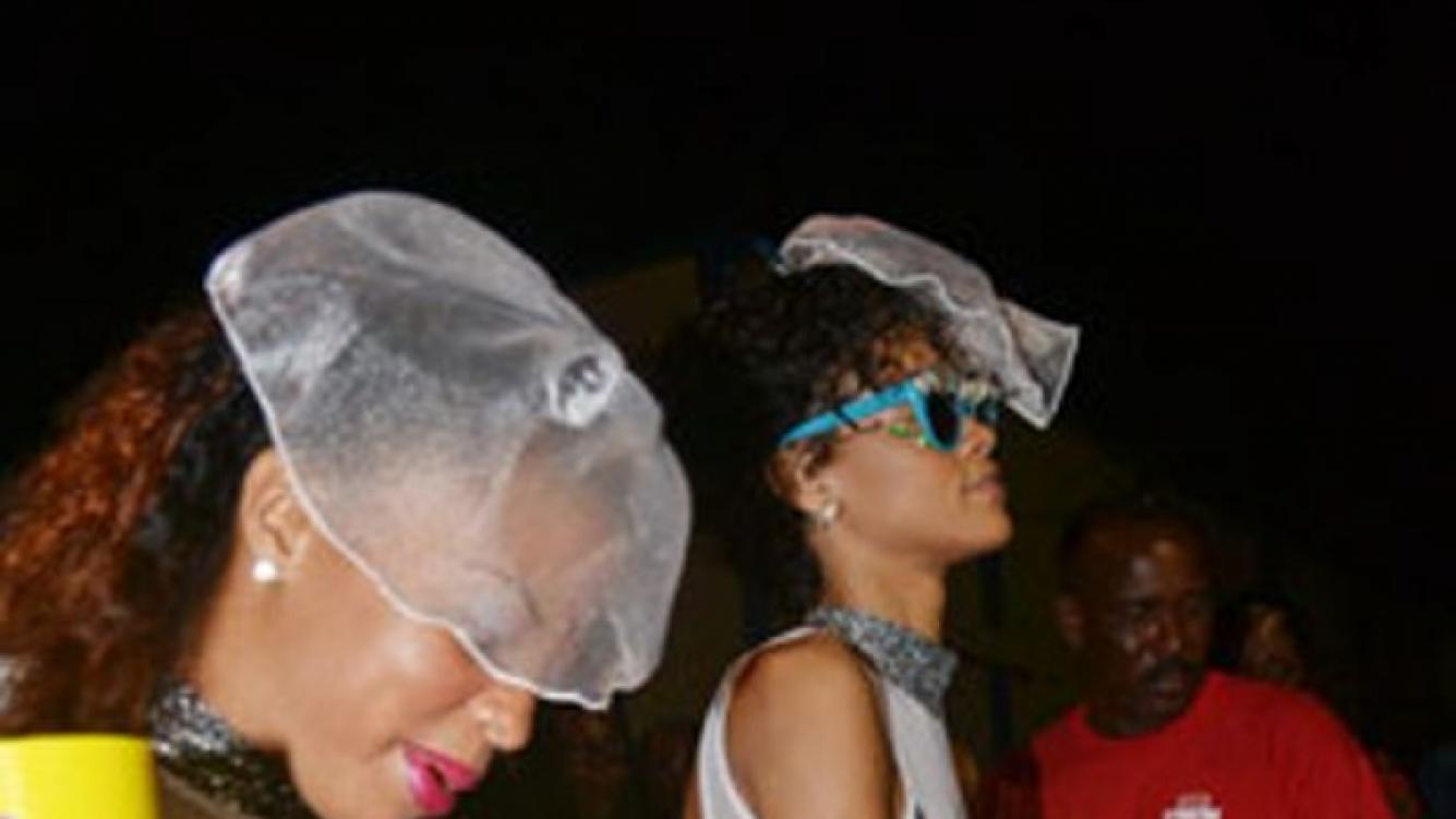 Rihanna, sensualidad y descontrol en una fiesta de Barbados (Foto: TMZ).