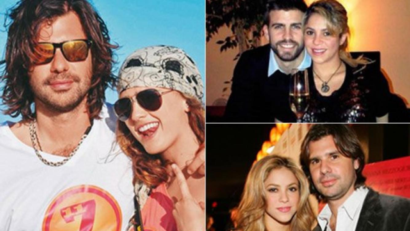 Antonio con Daniela Ramos, Shakira con Piqué y otra imagen de De la Rúa con la colombiana. (Fotos: Web)