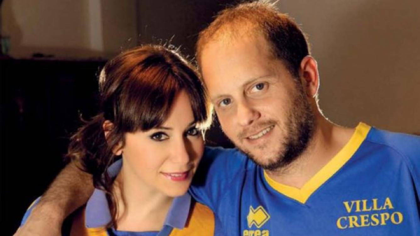 Cayetina y Cayetano, nacidos y criados en Villa Crespo, fanáticos de Atlanta.  (Foto: Revista Gente)