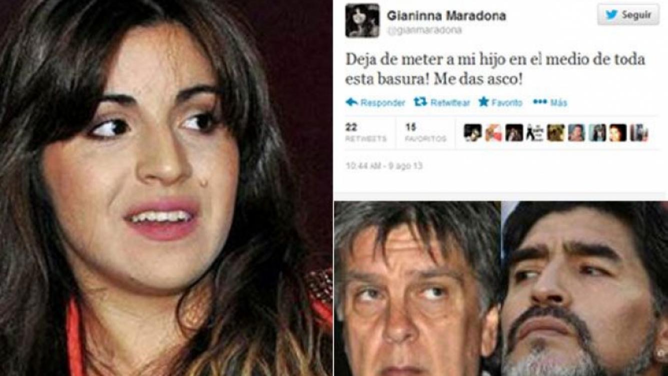 Gianinna Maradona estalló en Twitter. (Fotos: Web y Twitter)