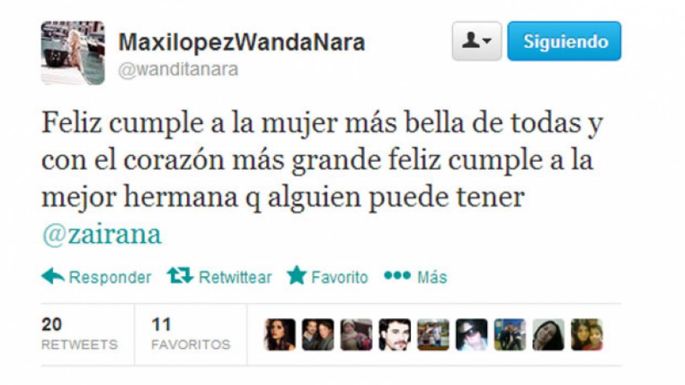 El tierno saludo de Wanda Nara para su hermana (Foto: Captura).