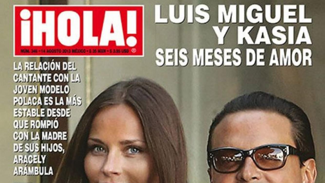 Luis Miguel y Kasia Sowinska en la tapa de ¡Hola! México.