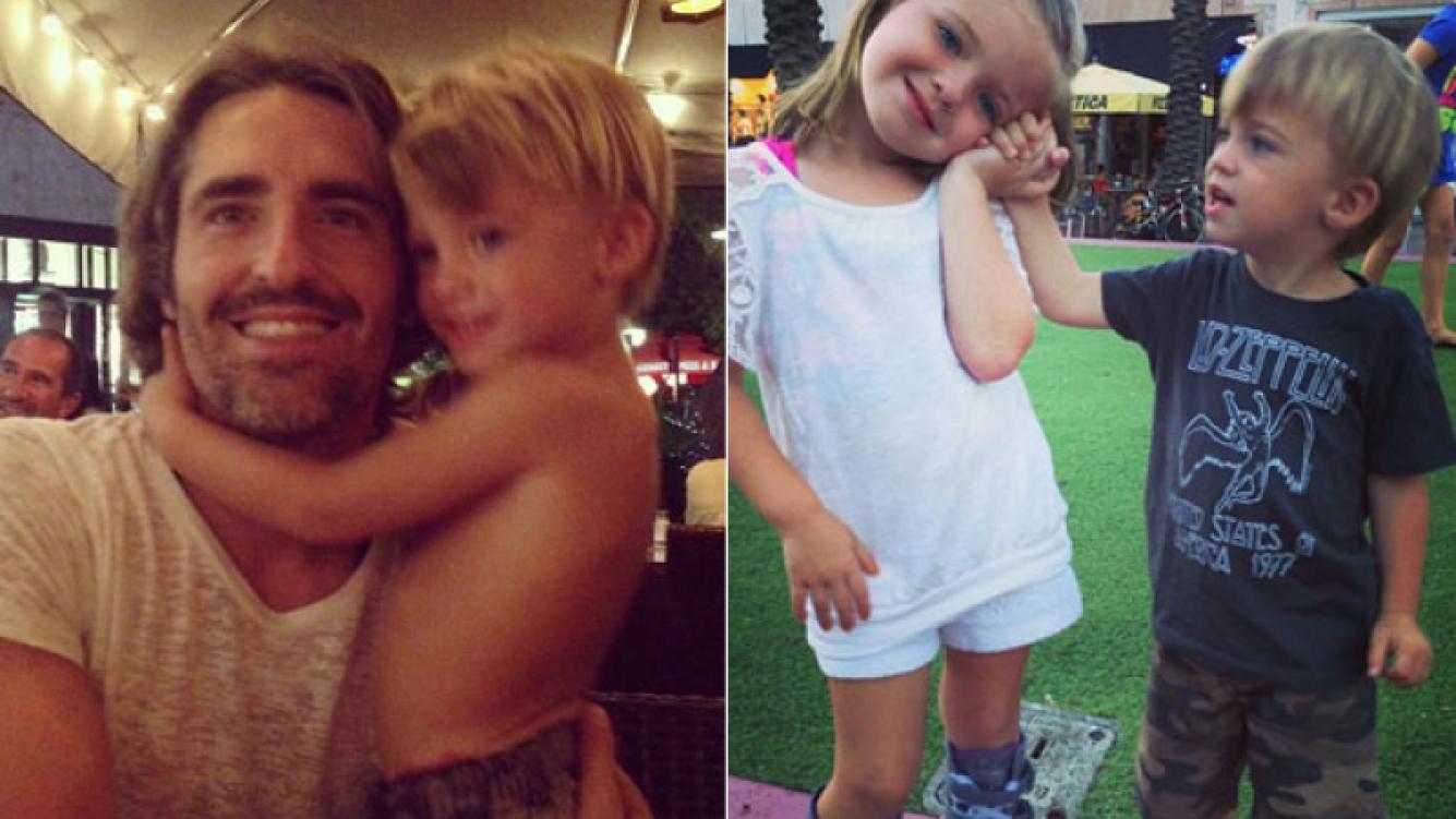 Nicolás Paladini, marido de Rocío Guirao Díaz y sus hijos. (Fotos: Instagram)