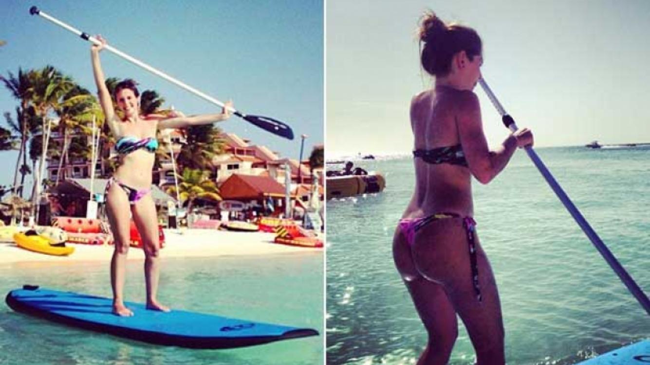 El álbum de fotos de las vacaciones de Eugenia Lemos en Aruba. (Foto: Instagram)