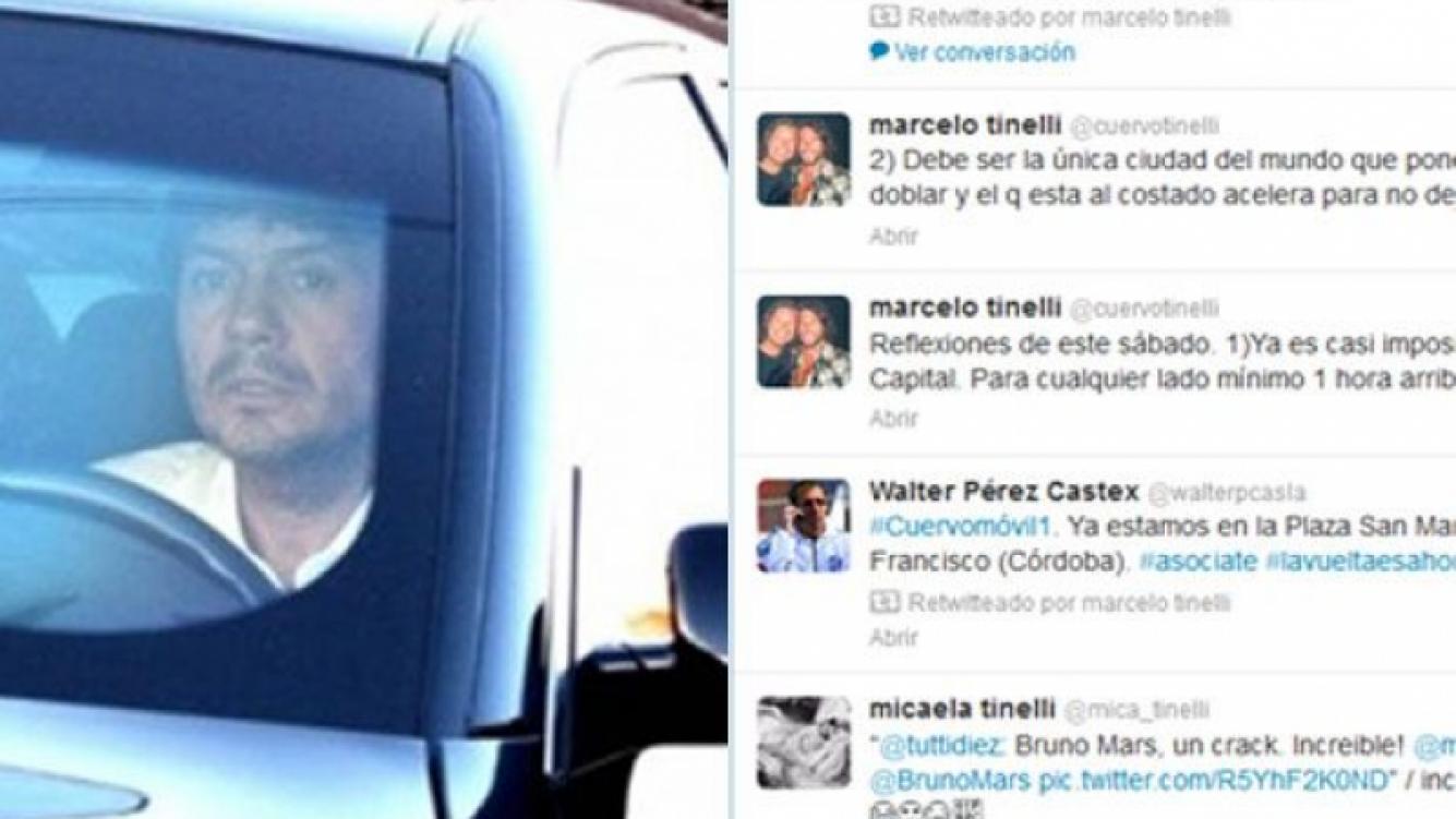 Marcelo Tinelli opinó del tránsito en Twitter. (Fotos: Web y Twitter @cuervotinelli)
