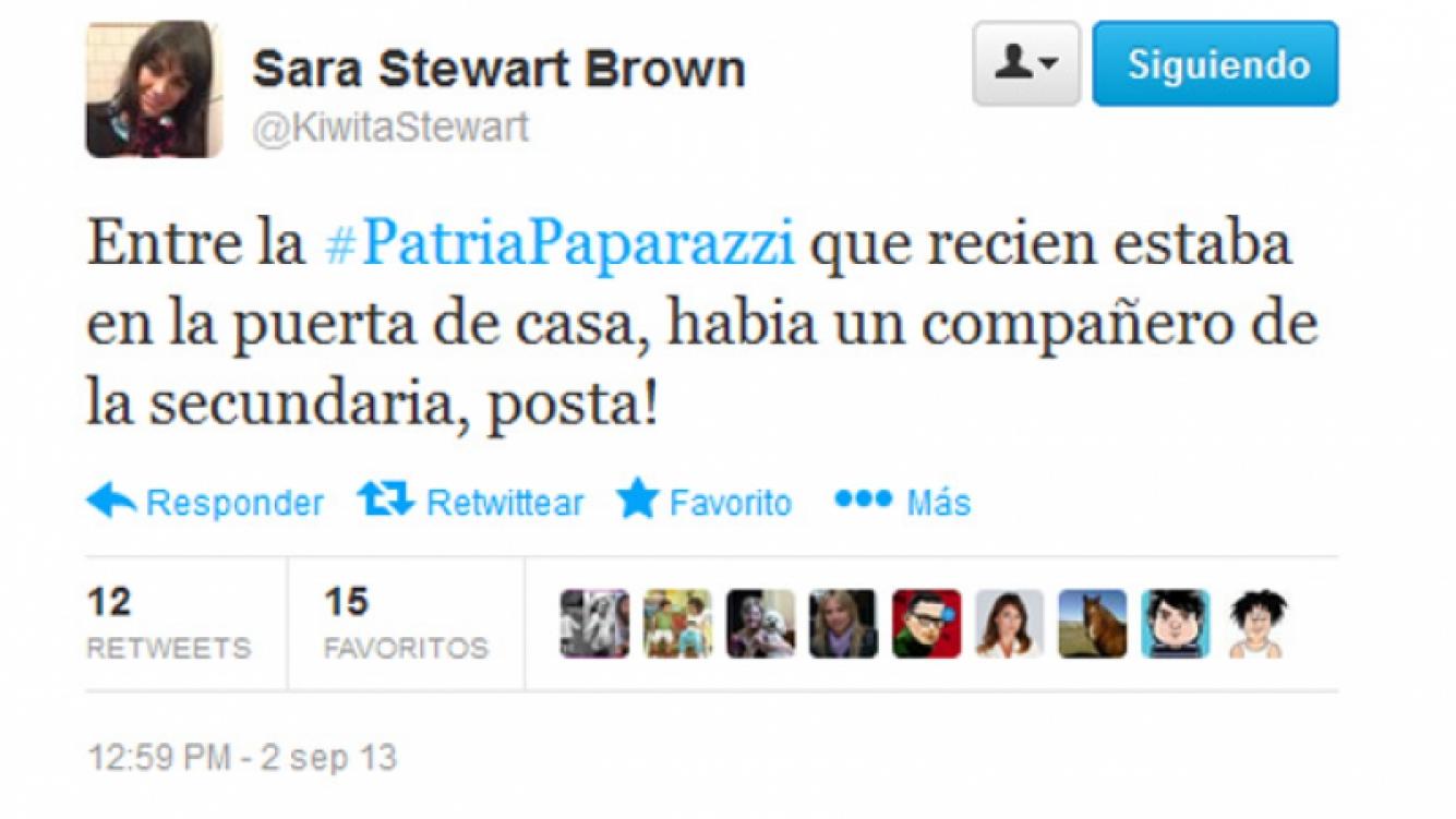 El tweet de Sara Stewart Brown.