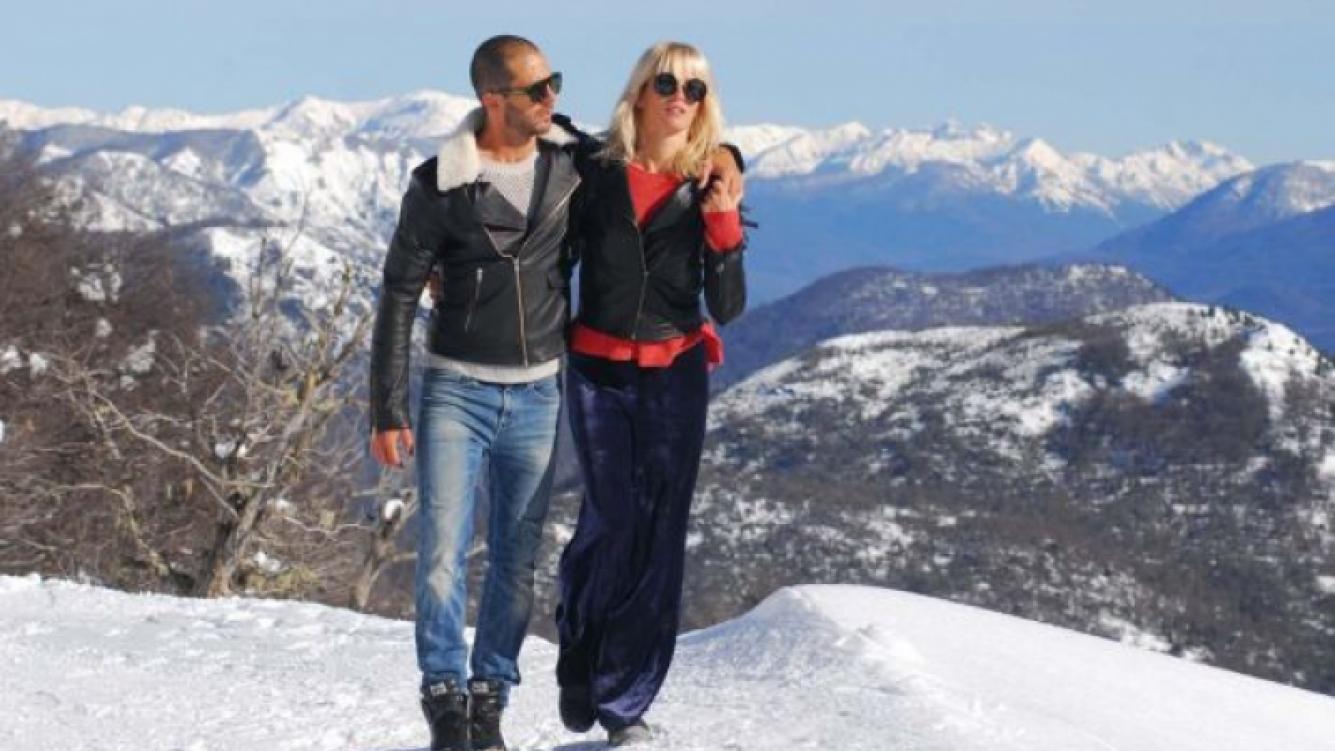 Liz Solari pasó unas soñadas vacaciones en Chapelco junto a su novio. (Foto: Gentileza Público Press Group)