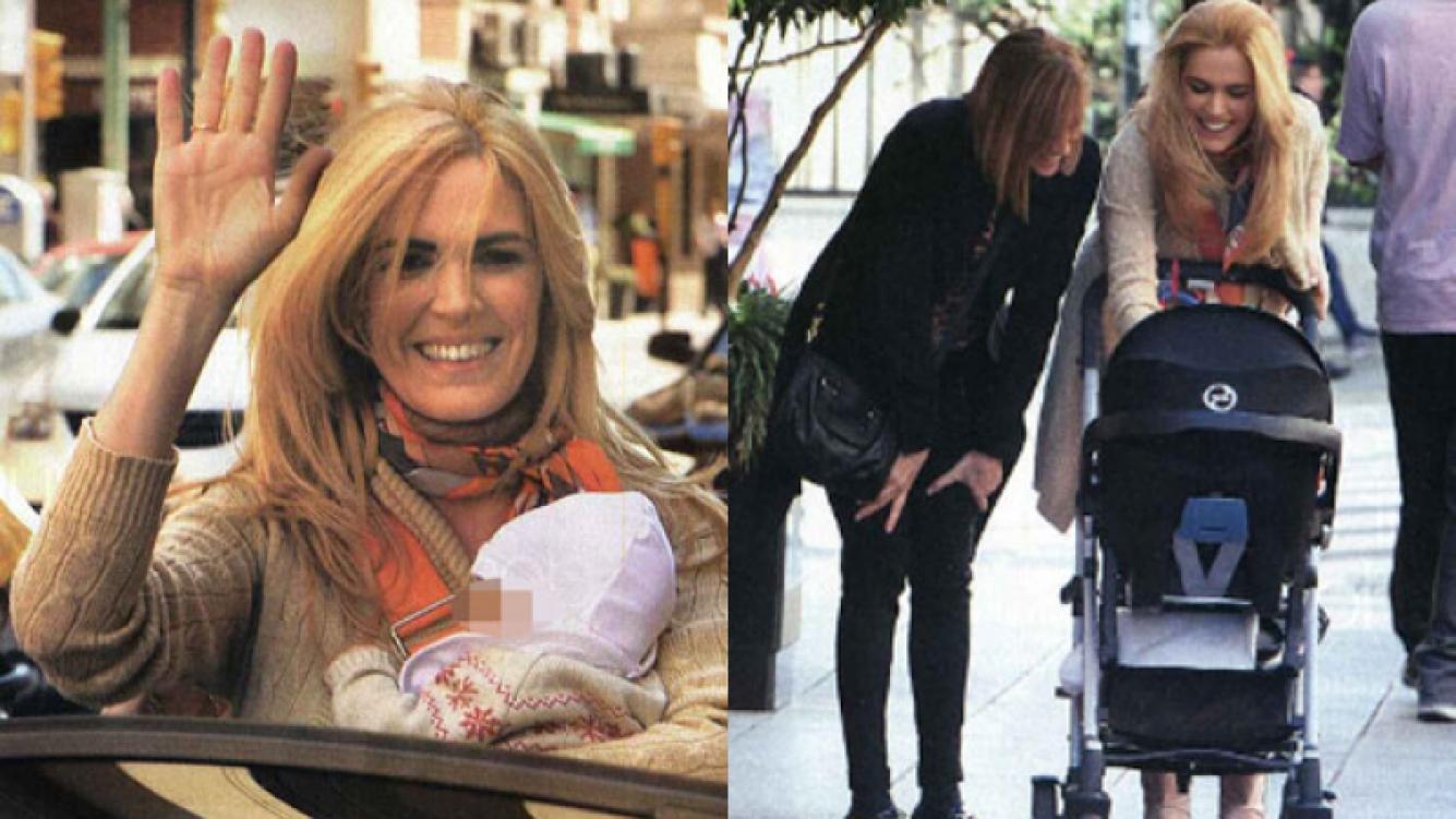 Viviana Canosa, feliz con su beba y su cuñada (Fotos: Revista Gente).