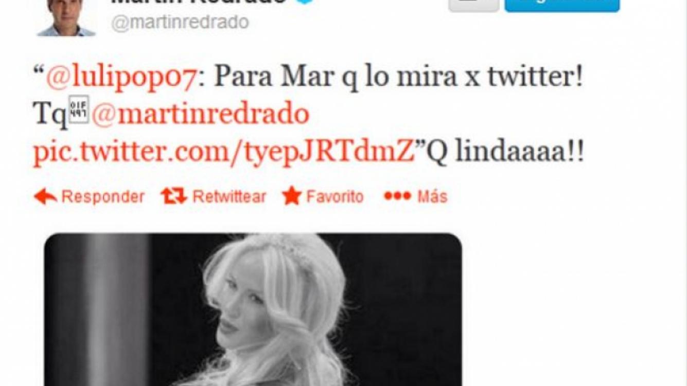 El tuit de Luciana Salazar para Martín Redrado y la respuesta de él. (Foto: Twitter)