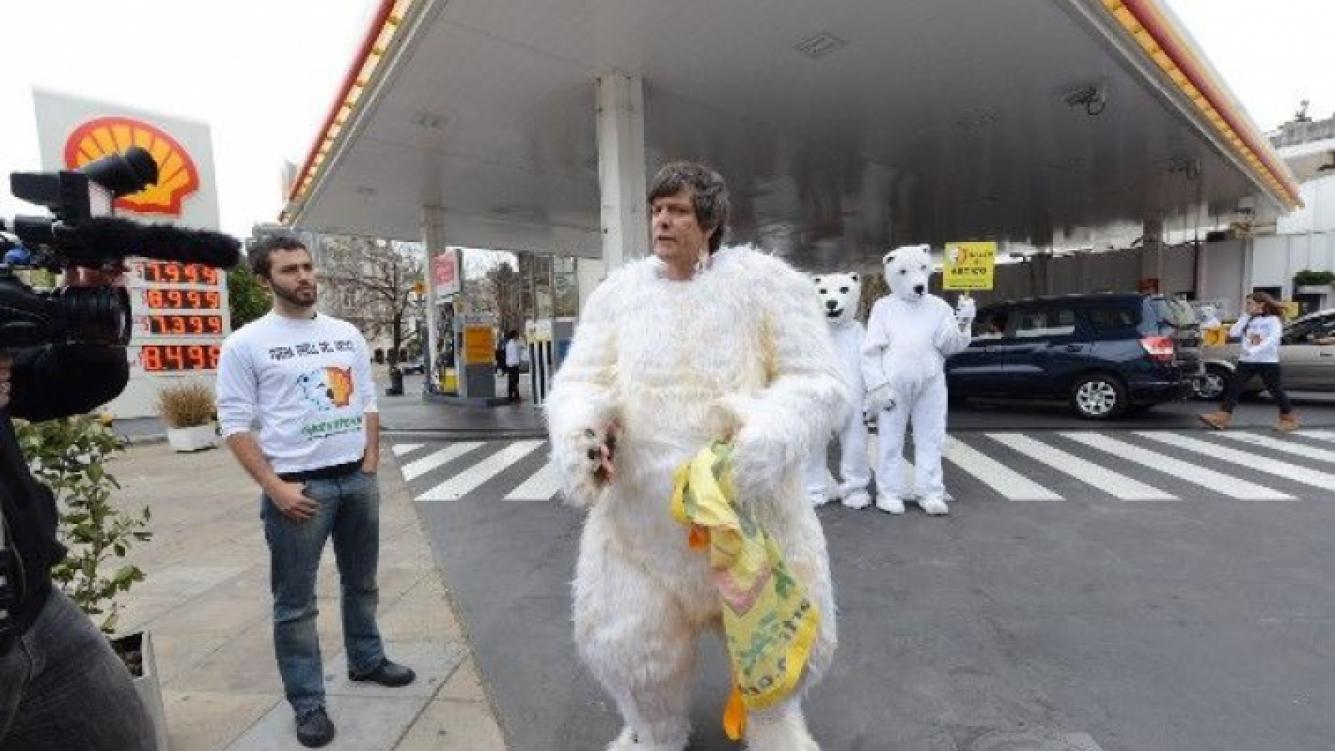 Mario Pergolini, disfrazado de oso polar (Foto: Web).