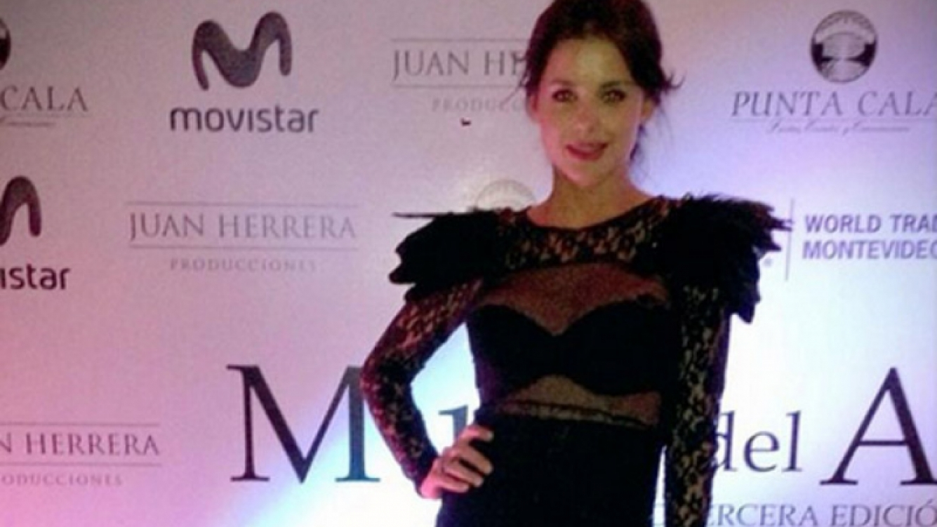 El vestido transparente de Vitto Saravia. (Foto: Twitter @VittoSaravia)