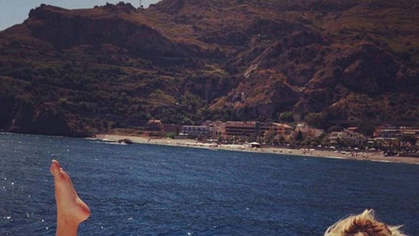 Wanda Nara en las islas Eolias (Foto: Instagram).