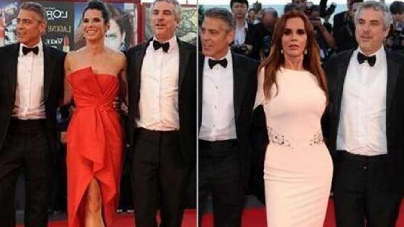 El papelón de la actriz mexicana Lucía Méndez por una foto falsa con George Clooney. (Foto: Web)